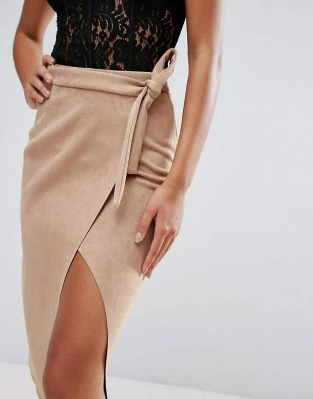 Огорчает неидеальная фигура? Смело выбирайте юбку с запахом и будьте великолепны!