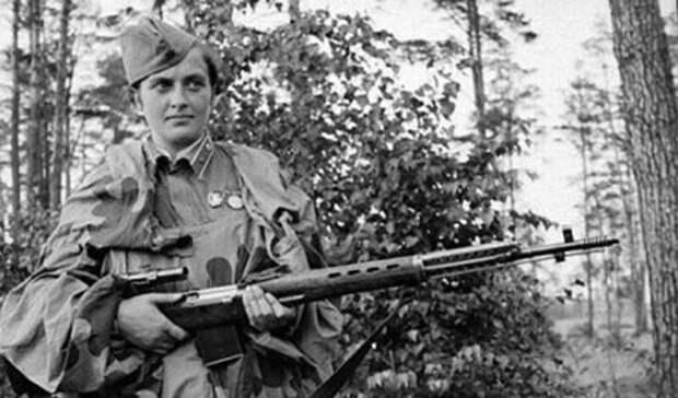 Проверка Великая Отечественная, Женщины на войне, снайпер №1