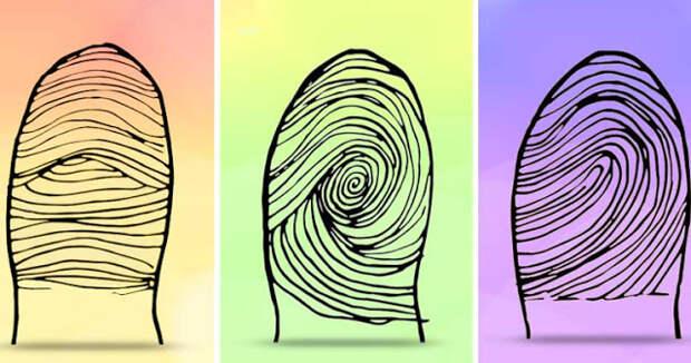 Тест: ваши отпечатки пальцев многое расскажут о вашей личности