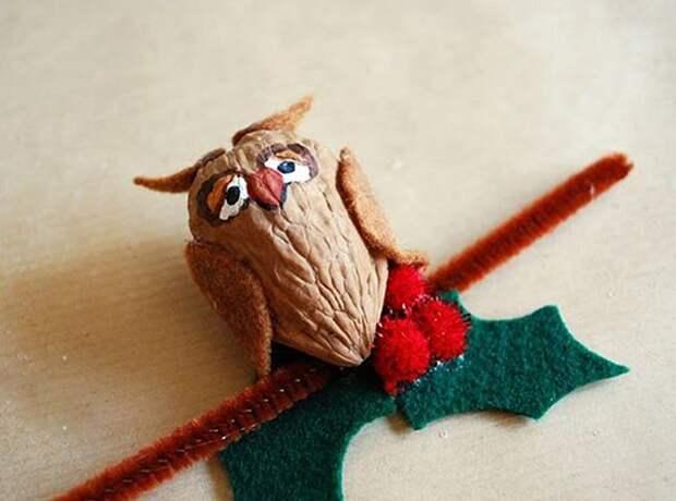 Щёлкаем орешки: скорлупа грецкого ореха как материал для вашего творчества, фото № 41