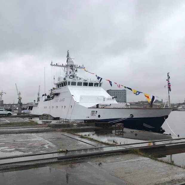 Введен в строй пограничный сторожевой корабль «Бдительный»