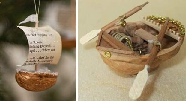 Щёлкаем орешки: скорлупа грецкого ореха как материал для вашего творчества, фото № 33