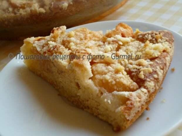 P1160321 500x375 Яблочный пирог на кефире   Gurmel