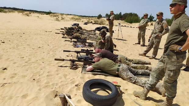Подготовка снайперов из 36-й бригады морской пехоты ВСУ инструкторами НАТО