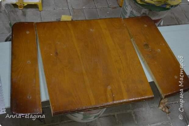 Винтажная переделка старого стола в стиле шебби-шик 1