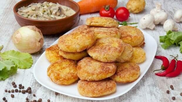 Картофельные котлеты с рисом. \ Фото: youtube.com.