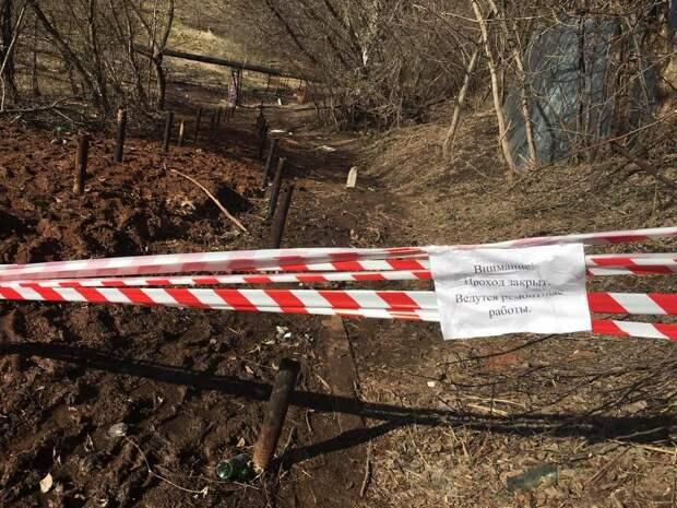 В Ижевске перекрыли аварийный переход через реку Подборенка