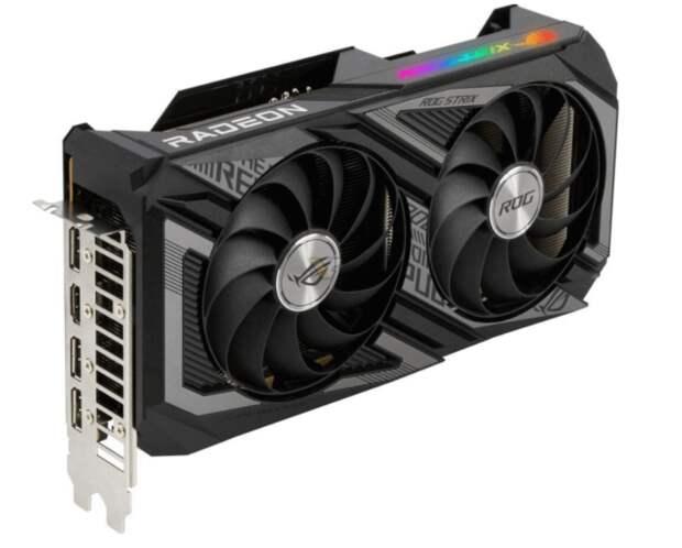 ASUS выпустила видеокарты RX 6600 XT ROG Strix / Dual с двумя вентиляторами
