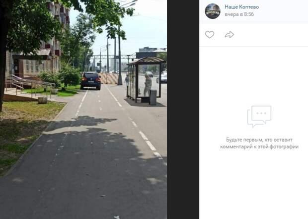 Около остановки «Ул. Приорова» водитель перепутал велодорожку с шоссе