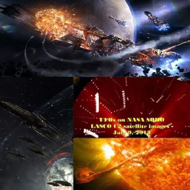 космос, Угроза из космоса, солнце, Космическая Война, война