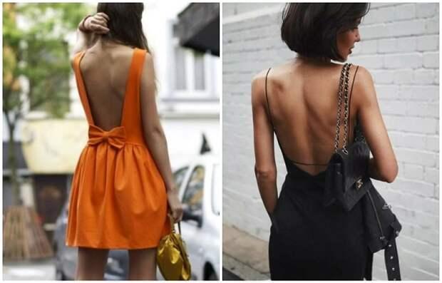 Платье с открытой спиной создает утонченный и сексуальный образ