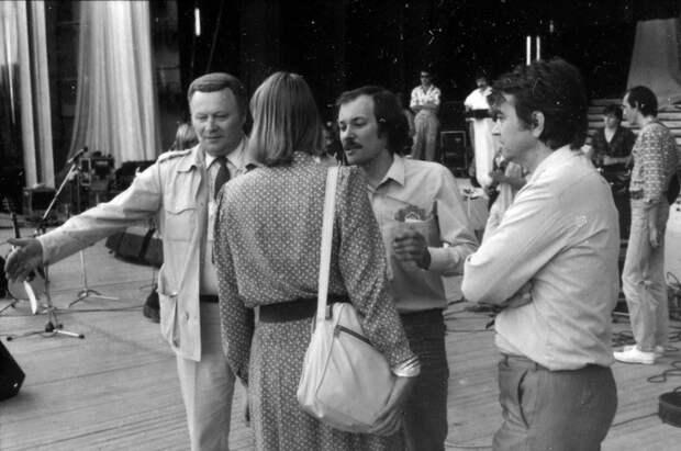 Владимир Конкин на фестивале молодёжи и студентов в Москве. 1985 год.