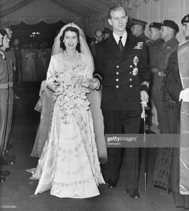 Princess Elizabeth and Prince Philip Just Married : News Photo