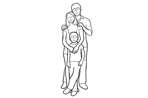 Семейная фотография в полный рост