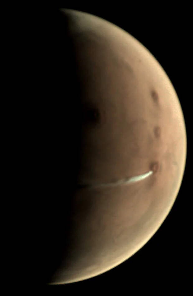 Марсиане затопили печку Юмор, Вулкан, Космос, Марс, Облака, Планета, NASA, Телескоп