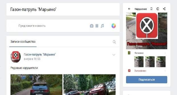 Жители Марьина создали «газон-патруль»