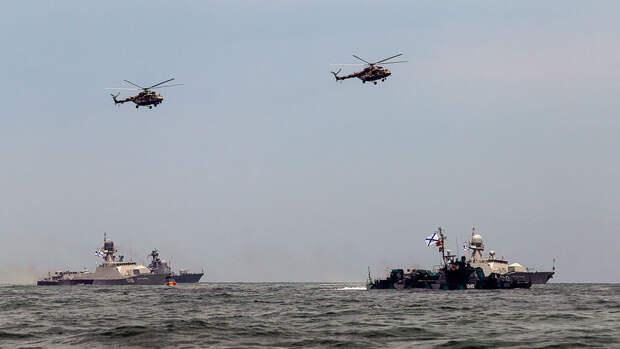 В Каспийское море вышли корабли российского ВМФ