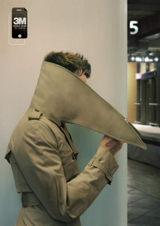 3M Privacy Filter: For your eyes only, 3M, DDB Singapore, 3M Company, Печатная реклама