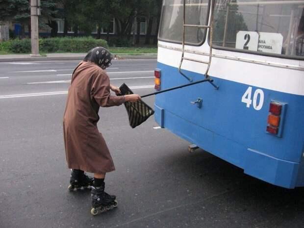 Тоже удобное средство передвижения! автобус, люди, метро, общественный транспорт, работа, электричка