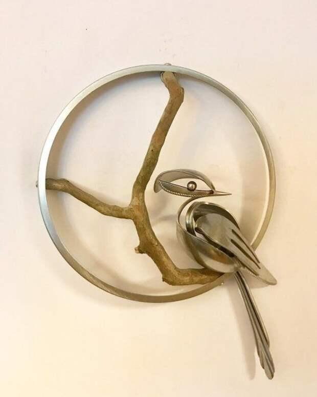 Старые вилки и ложки служат материалом для творчества креативного ресайкл-художника Мэтта Уилсона
