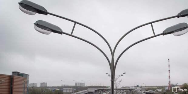 На Шереметьевской починили освещение