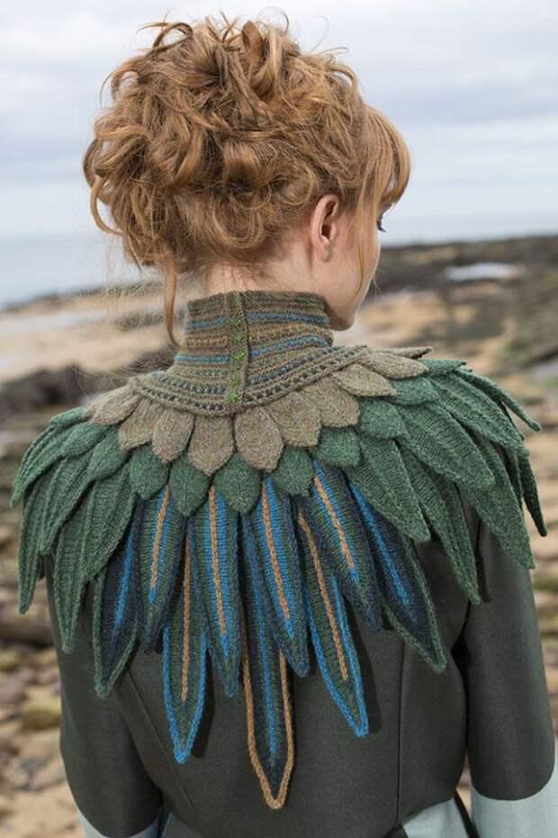 Вязаные перья...