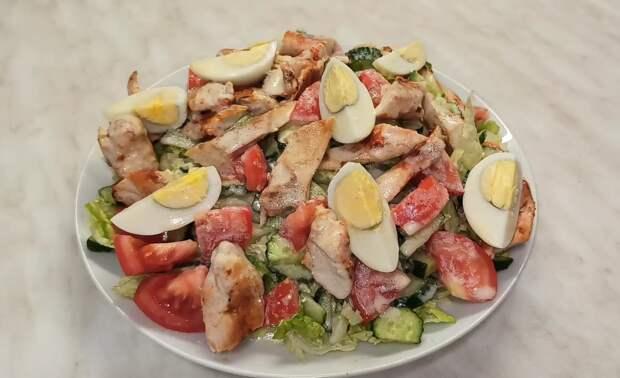 Салат из пекинской капусты с курицей /простой рецепт