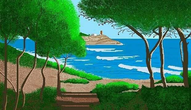 Конча Гарсия Сэра рисует отличные картины в Paint