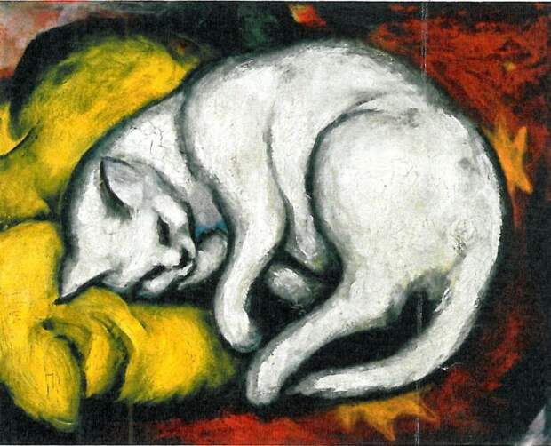 Марк Франц – Белый кот. \ Фото: pinterest.cl.