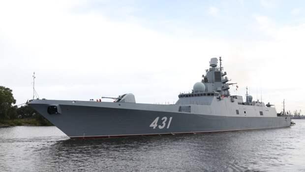 Фрегат «Адмирал Касатонов» в дальнем походе прошел более 22 тысяч морских миль