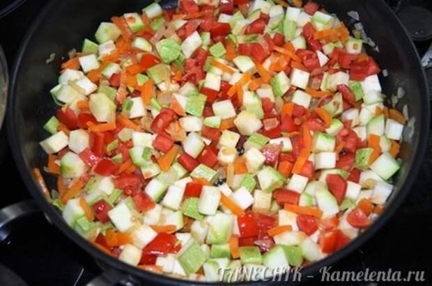 Приготовление рецепта Полба с овощами шаг 6