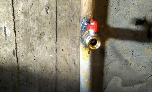 Как врезаться в трубу под давлением для установки шарового крана