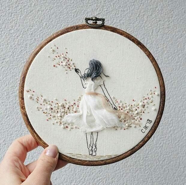 Женственные вышивки невест от Kayra Handmade