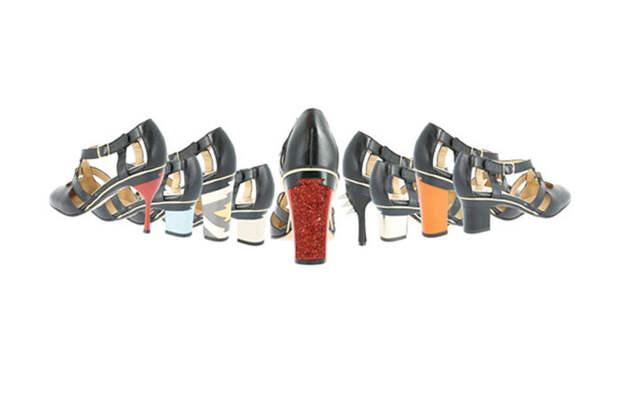 Коллекция трансформируемой обуви со сменными каблуками от французского дизайнера Тани Хит (Tanya Heath).