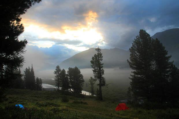 Утро в долине реки Белая Берель