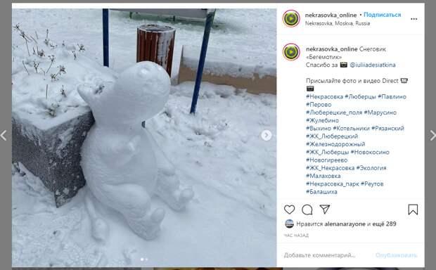 Фото дня: муми-тролль отдыхает в Некрасовке