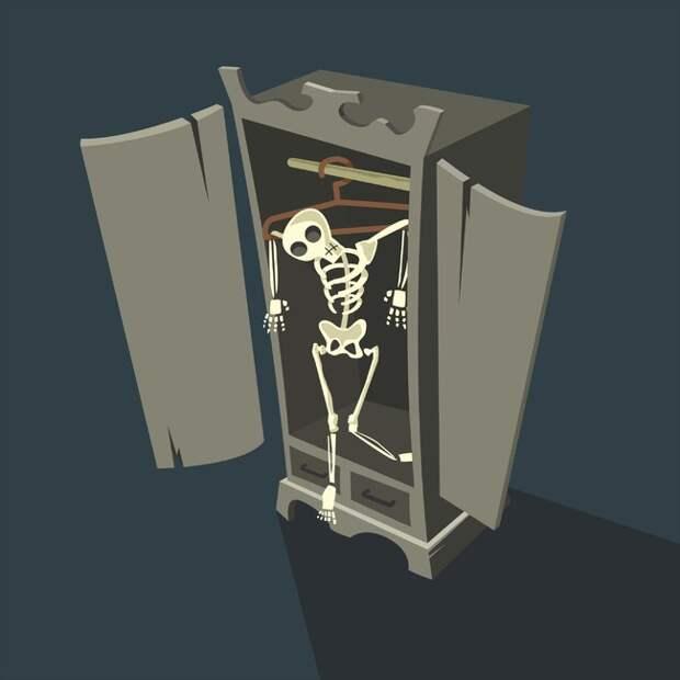 10. У каждого взрослого есть скелеты в шкафу друг, причина, сложность, человек