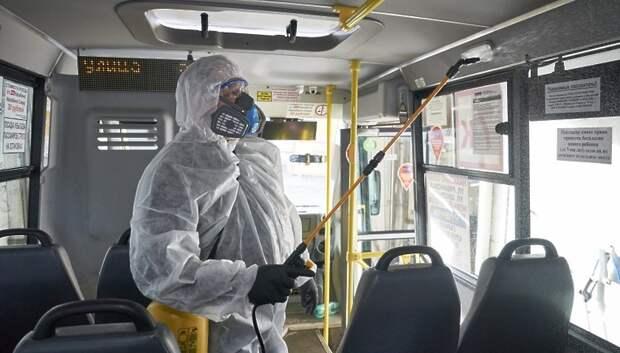 Дезинфекцию в автобусах Подмосковья будут контролировать с помощью мобильного приложения
