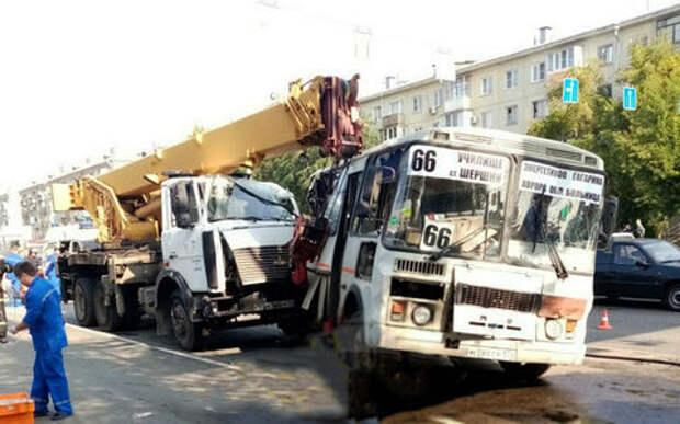 Кран таранил людей и маршрутки - трагичное ДТП в Челябинске