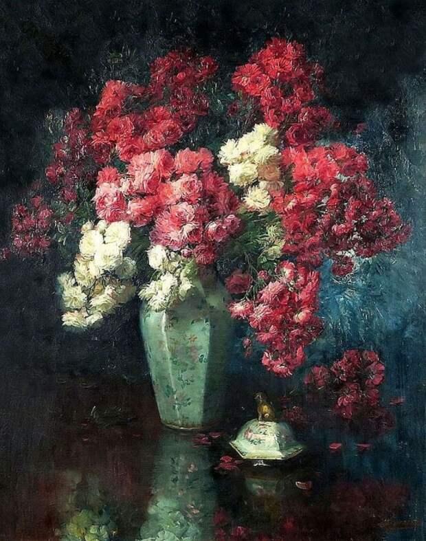 Художник Julien Stappers (1875 – 1960). Великолепие цветов