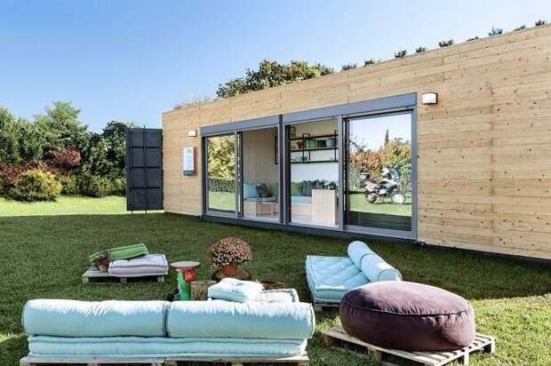 Самые красивые дома, построенные из грузовых контейнеров. Фото