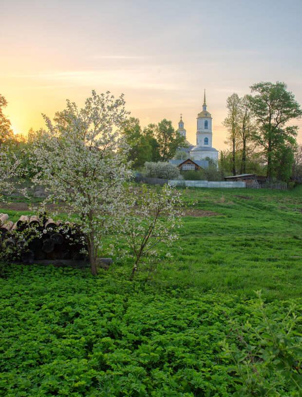 Рассвет в селе Юрьево