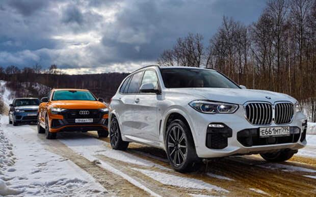 Audi Q8, BMW X5, Range Rover Sport — тест-драйв роскоши в цифрах