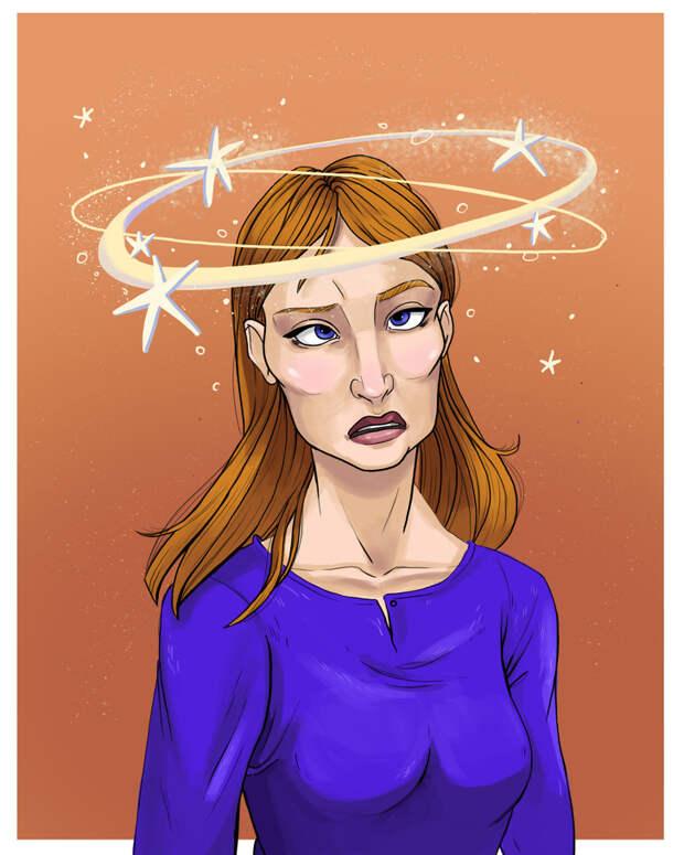 6. Головокружение или «видение звездочек».