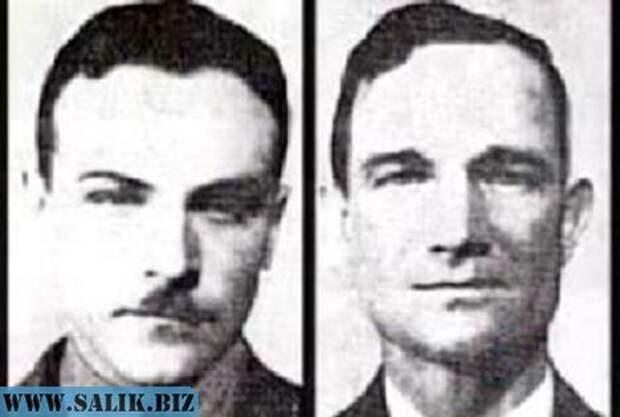Лейтенант Эрнест Коди и мичман Чарльз Адамс.