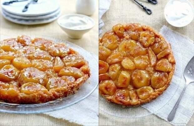 Яблочный пирог вверх дном с карамелью: божественный десерт за полчаса!