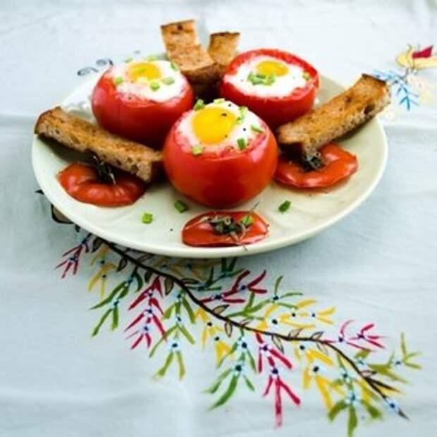 """""""Яйца в помидорах - превосходный завтрак"""""""