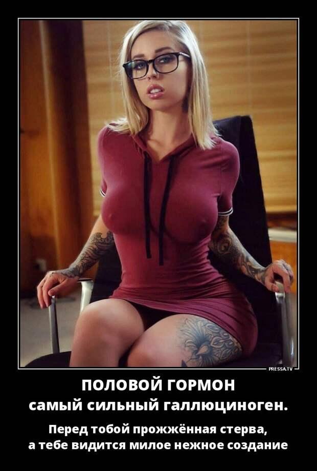 Вечерние демотиваторы про девушек и женщин для настроения