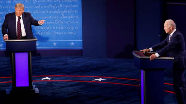 CNN: первые президентские дебаты в США обернулись «хаосом и волной личных нападок»