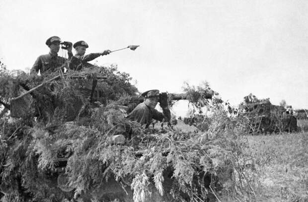 Замаскированные советские танки во время боев в районе озера Хасан. 1938 год. / ТАСС